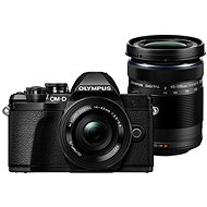 Olympus E-M10 Mark III Pancake Black + ED 14-42EZ Black + 40-150mm R Black - Digital Camera