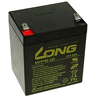 Long 12V 5Ah Lead Acid Battery F2 (WP5-12B F2) - Rechargeable battery