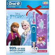 Oral-B Vitality Frozen + Travel Case - Electric Toothbrush for Children