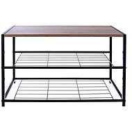 Metal/Wood Shoe Rack, 2 Racks - Shoe Rack