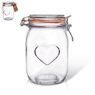 Glass Jar Patent BELA Heart 1l - Container