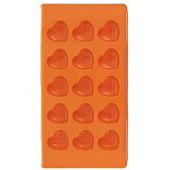 HEART Silicone Mould for Chocolate, 15 - ORANGE - Mould