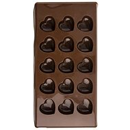 HEART Silicone Mould for Chocolate 15 - BROWN - Mould