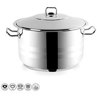 Gastro Stainless-steel Pot with Lid, 22l