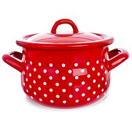 DOT Enamel Pot 16cm with Lid - Pot