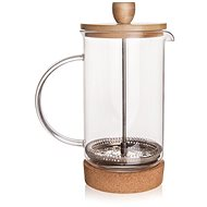 Glass/stainless-Steel/Bamboo Coffee Pot CORK 0,75l - French Press