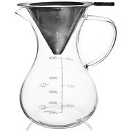 Orion Glass/Stainless-steel Kettle. 0.75l, with Measuring Cup
