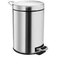 Stainless-steel/UH Waste Bin with Pedal, 20l - Waste Bin