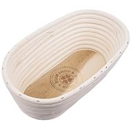 Oat rattan oval HOME MADE 26x13x9 cm - Kneading Bowl