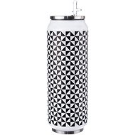 ORION Thermos Can stainless steel 0.7l BLACK AND WHITE - Thermos