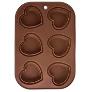 (SUPPORTING ITEM) Silicone Form MUFFINY HEART 6 Brown - Baking Mould