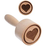 ORION HEART Wood Stamp for Biscuits - Stamp