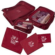 Set of Travel Organizers for a Suitcase 6 pcs Red - Storage Box