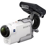 Sony ActionCam FDR-X3000RFDI + Finger Grip AKAFGP1 - Video camera microphone