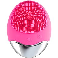Palsar7 Silicone skin cleansing brush with pad, dark pink - Cosmetic device