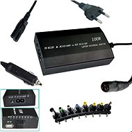 PATONA for Laptops, 100W to 240V/12V-24V/USB/8 Connectors/Universal/Mains and Car - Power Adapter
