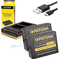 PATONA Photo Dual Quick Fuji NP-W126 + 2x 1020mAh Batteries - Battery Charger