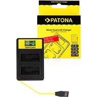 PATONA Dual Charger for Canon LP-E8 with LCD, USB - Charger