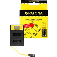 PATONA for Dual Canon NB-13L with LCD, USB - Charger
