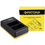 PATONA Dual LCD Charger for Canon LP-E6, USB - Charger