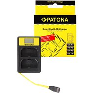 PATONA Dual Charger for Canon LP-E6 with LCD, USB - Charger