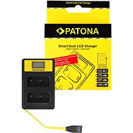 PATONA Dual Charger for Fuji NP-W126 with LCD, USB - Charger