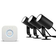 Philips Hue White and Color Ambiance Lily base kit 17414/30/P7 + Bridge - Lamp