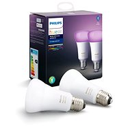 Philips Hue White and Color ambiance 9W E27 Set, 2pcs