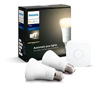 Philips Hue White 9W E27 Small Starter Kit - LED Bulb