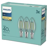 Philips LED Classic 4.3-40W, E14 2700K, 3pcs - LED bulb