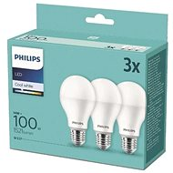 Philips LED 14-100W, E27 4000K, 3pcs - LED Bulb