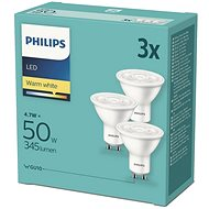 Philips LED 4.7-50W, GU10 2700K, 3pcs - LED bulb