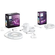 Philips Hue LightStrip Plus v4 + Philips Hue LightStrip Plus v4 Extension - Smart Lighting Set