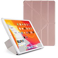 "Pipetto Origami for Apple iPad 10.2"" (2019) - Pink Gold - Transparent Back - Tablet Case"