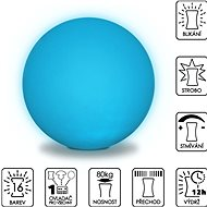 Colour-changing Sphere 50cm - Ottoman