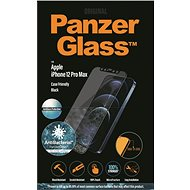 PanzerGlass Edge-to-Edge Antibacterial for Apple iPhone 12 Pro Max, Black, with Anti-Glare Layer - Glass protector