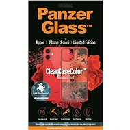 PanzerGlass ClearCase Antibacterial for Apple iPhone 12 mini (Red - Mandarin Red) - Mobile Case