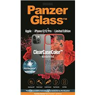 PanzerGlass ClearCase Antibacterial for Apple iPhone 12/12 Pro (Red - Mandarin Red) - Mobile Case