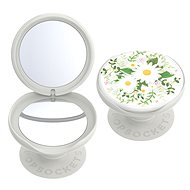 PopSockets PopGrip Gen.2, PopMirror Midsummer, with Mirror, White with Flowers - Mobile Phone Holder