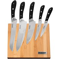 PORKERT Villa Knife Set with Stand - 6 pcs - Knife Set