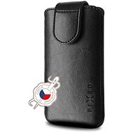 Mobile Phone Case FIXED Sarif with Closure PU Leather Size 6XL+ Black