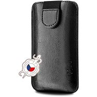 Mobile Phone Case FIXED Soft Slim with Closure PU Leather Size 6XL+ Black
