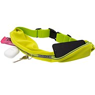 FIXED Sportbelt Duo with Two Pockets Lime - Mobile Phone Case