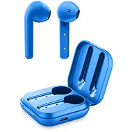 Cellularline Java with Rechargeable Case, Blue - Wireless Headphones