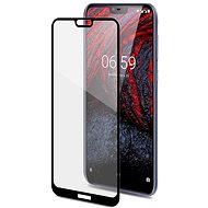 CELLY Full Glass for Nokia 6.1 Plus Black - Glass protector