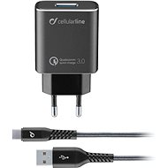 Cellularline Qualcomm® Quick Charge ™ 3.0 18W black - Charger Set