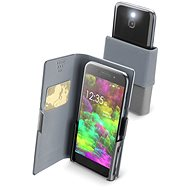 Cellularline Slide & Click L with hinged top of PU leather black - Mobile Case