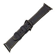FIXED Berkeley for Apple Watch, 42mm and 44mm, with Black Buckle, size L, Charcoal Black - Watch band