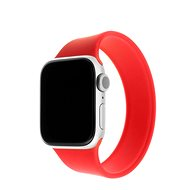 FIXED Elastic Silicone Strap for Apple Watch 42/44mm size L Red - Watch Band