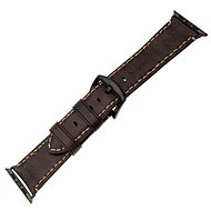 FIXED Berkeley for Apple Watch 42 mm and 44 mm Charcoal Brown Strap with Black Buckle Size L - Watch band